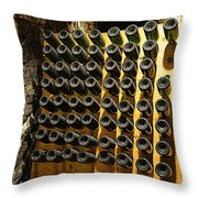 Biltmore Estate Wine Cellar -stored Wine Bottles Throw Pillow
