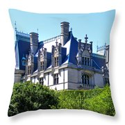 Biltmore House In Summer Throw Pillow