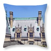 Biltmore House Roof Throw Pillow
