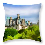 Biltmore In The Distance Throw Pillow