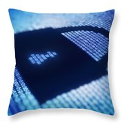 Electronic Data Security Throw Pillow