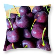 Bing Cherries Throw Pillow