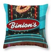 Binions Whiskey Licker Bar Throw Pillow
