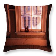 Binoculars On Windowsill Throw Pillow
