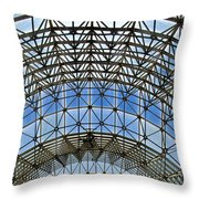 Biosphere2 - Arched Stucture Throw Pillow