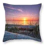 Birch Bay Sunset Throw Pillow