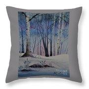 Birch Dawn Throw Pillow