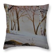 Birch Drift Throw Pillow