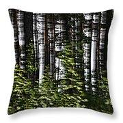 Birch Illusion Throw Pillow