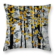 Birch Study Fall Throw Pillow