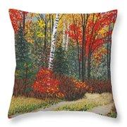 Birch Trail Throw Pillow