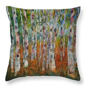 Birch Tranquility Throw Pillow