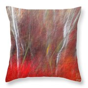 Birch Trees Abstract Throw Pillow