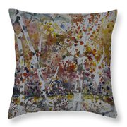 Birch Trees In Fall Throw Pillow