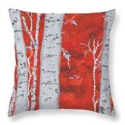 Birch Woods Throw Pillow