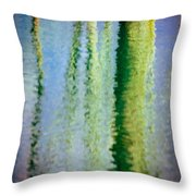 Birches Reflections II Throw Pillow