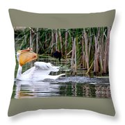 Bird Attack Throw Pillow