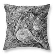 Bird B-w 625 - Marucii Throw Pillow