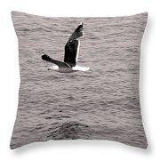 Bird Bw Throw Pillow