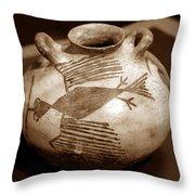 Bird Canteen Throw Pillow