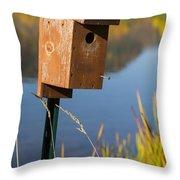 Bird House Autumn 1 Throw Pillow