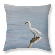 Bird In A Pond Throw Pillow