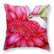 Bird In Bloom Throw Pillow