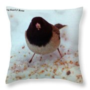 Bird In Snow Throw Pillow