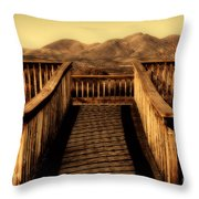 Bird Lookout-bosque Del Apache  Throw Pillow