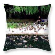 Bird Man Throw Pillow