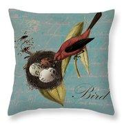 Bird Nest - 02v02t01 Throw Pillow