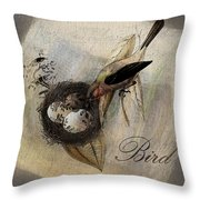 Bird Nest - Sp11ac02 Throw Pillow