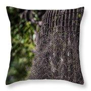 Bird Nest Tree Throw Pillow