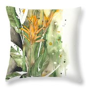 Bird Of Paradise 08 Elena Yakubovich  Throw Pillow by Elena Yakubovich