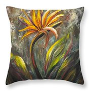 Bird Of Paradise 63 Throw Pillow