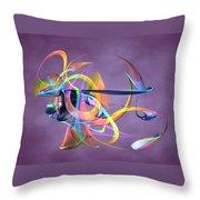 Bird-of-paradise - Abstract Throw Pillow