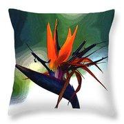 Bird Of Paradise Flower Fragrance Throw Pillow
