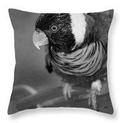 Bird On A Chain Throw Pillow