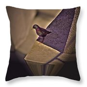 Bird On A Ledge Throw Pillow