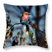 Bird On A Limb Throw Pillow