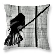 Bird On A Wire I Throw Pillow