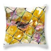 Bird On Chain Throw Pillow
