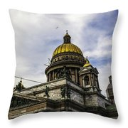 Bird Over St Basil's Cathedral Throw Pillow
