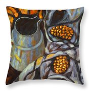 Bird Scarf Throw Pillow