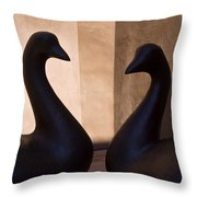 Bird Sculptures Throw Pillow