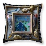 Bird Shadows - Framed Throw Pillow