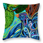 Bird Song Throw Pillow by Genevieve Esson