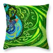 Bird Song Swirl Throw Pillow