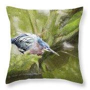 Bird Whirl Throw Pillow