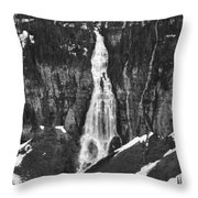 Bird Woman Waterfalls Throw Pillow